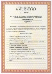 Professional training license addition